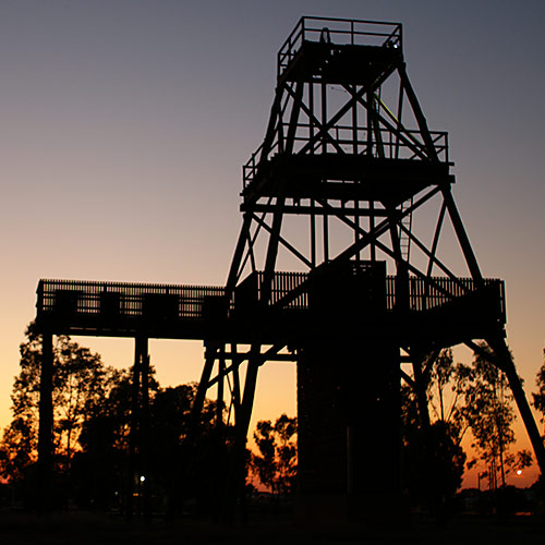 Historic goldfield locations in West Wyalong