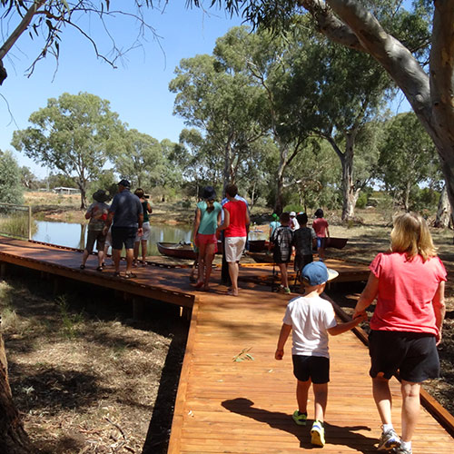The Wetlands recreational area in West Wyalong